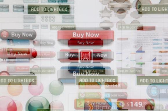 A zoomed image of a computer monitor shows a website selling button clipart for online shops in Vienna November 27, 2013. REUTERS/Heinz-Peter Bader/Files