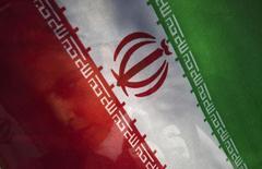 Мальчик стоит с флагом Ирана в аэропорту Тегерана 5 мая 2010 года. ЕС и США объявили в понедельник об ослаблении ряда экономических санкций в отношении Ирана после заключения переломного соглашения с ближневосточной страной, согласно которому Тегеран сократит масштабы своей ядерной программы. REUTERS/Morteza Nikoubazl