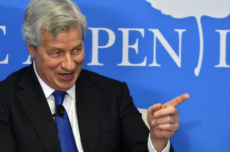 JPMorgan Chase Chairman and CEO Jamie Dimon speaks during a discussion on ''Closing the Workforce Skills Gap'', at the Aspen Institute in Washington December 12, 2013 file photo. REUTERS/Mike Theiler