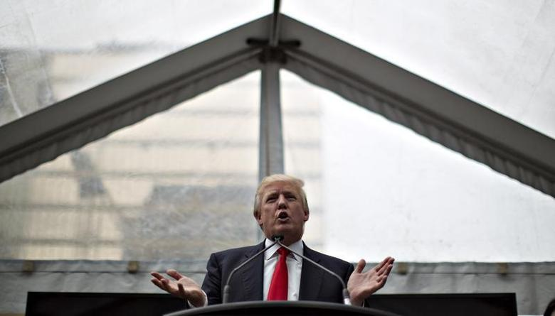Donald Trump addresses a ceremony announcing a new hotel and condominium complex in Vancouver, British Columbia June 19, 2013. REUTERS/Andy Clark