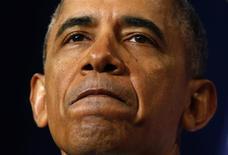 El presidente de Estados Unidos, Barack Obama, en una conferencia de prensa sobre la La Agencia Nacional de Seguridad (NSA; por sus siglas en inglés) en el Departamento de Estado en Washington, ene 17 2014. El presidente de Estados Unidos, Barack Obama, no ha hecho lo suficiente en las reformas a las actividades de supervisión de la Agencia Nacional de Seguridad (NSA, por sus siglas en inglés), que continúa violando el derecho a la privacidad de los individuos, dijo a Reuters el director de Human Rights Watch. REUTERS/Kevin Lamarque