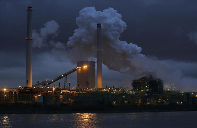 The coking plant and blast furnace are seen in Duisburg January 14, 2014. REUTERS/Ina Fassbender