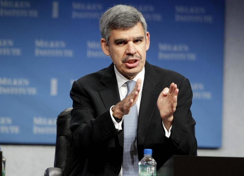 Mohamed A. El-Erian, CEO and co-CIO of PIMCO, takes part in a panel discussion titled ''Global Markets in Uncertain Times'' at the Milken Institute Global Conference in Beverly Hills, California April 29, 2013. REUTERS/Fred Prouser