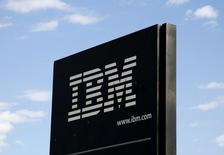 The company logo is pictured at the IBM facility near Boulder, Colorado in this September 8, 2009 file photo. REUTERS/Rick Wilking/Files
