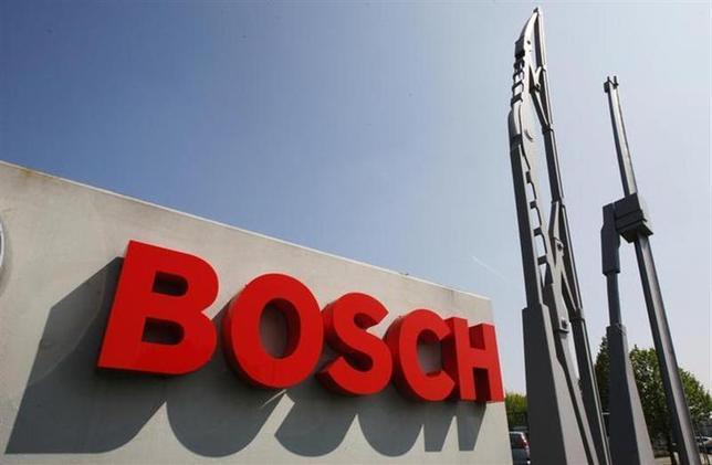View of the entrance of German automotive parts manufacturer Robert Bosch Belgian plant in Tienen April 21, 2009. REUTERS/Thierry Roge/Files