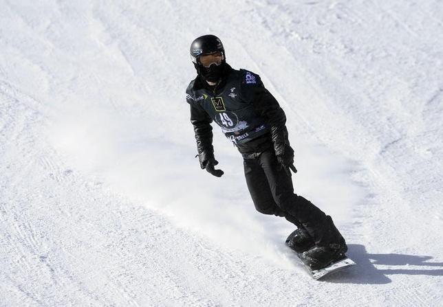 Jan 9, 2014; Breckenridge, CO, USA; Shaun White of the United States during slopestyle qualifying for the U.S. Grand Prix at Breckenridge Ski Resort. Mark Leffingwell-USA TODAY Sports