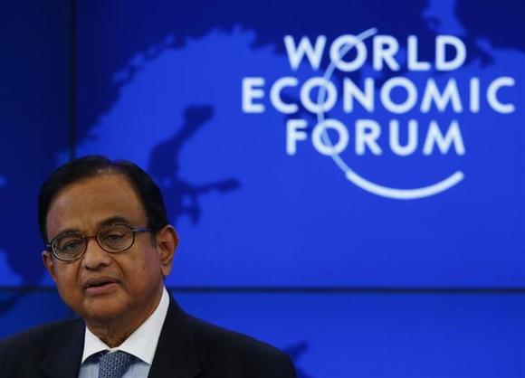 Finance Minister Palaniappan Chidambaram attends a session at the annual meeting of the World Economic Forum (WEF) in Davos January 22, 2014. REUTERS/Denis Balibouse