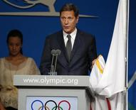 Alexander Zhukov of Russia takes the oath as a new member of the International Olympic Committee in Buenos Aires September 10, 2013. REUTERS/Enrique Marcarian