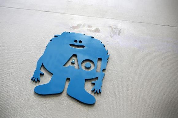 The AOL logo is seen at the company's office in New York November 5, 2013. REUTERS/Andrew Kelly/Files