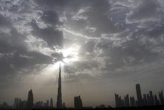 The Dubai skyline with Burj Khalifa (C) is seen during the late afternoon from the Sheikh Zayed highway March 28, 2010. REUTERS/Jumana ElHeloueh