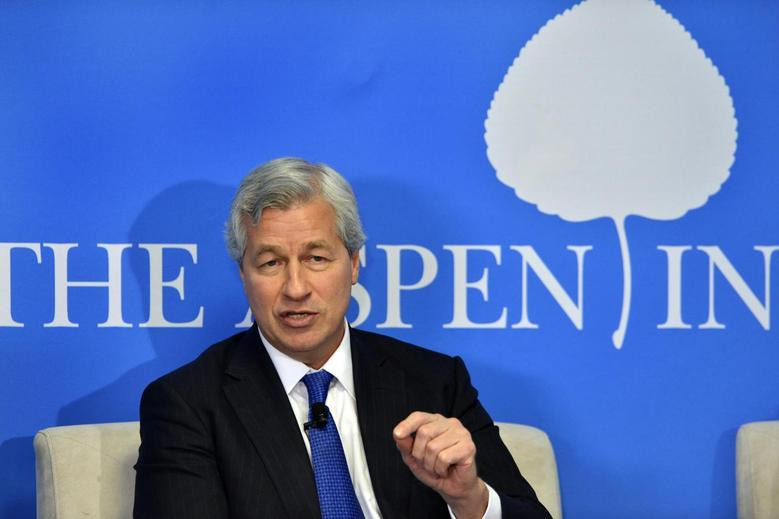 JPMorgan Chase Chairman and CEO Jamie Dimon speaks during a discussion on ''Closing the Workforce Skills Gap'' at the Aspen Institute in Washington December 12, 2013 file photo. REUTERS/Mike Theiler