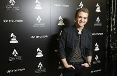 Country music singer Hunter Hayes poses during a media opportunity in Beverly Hills, California January 23, 2014. REUTERS/Mario Anzuoni