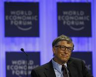 Microsoft founder Bill Gates attends a session at the annual meeting of the World Economic Forum (WEF) in Davos January 24, 2014. REUTERS/Denis Balibouse