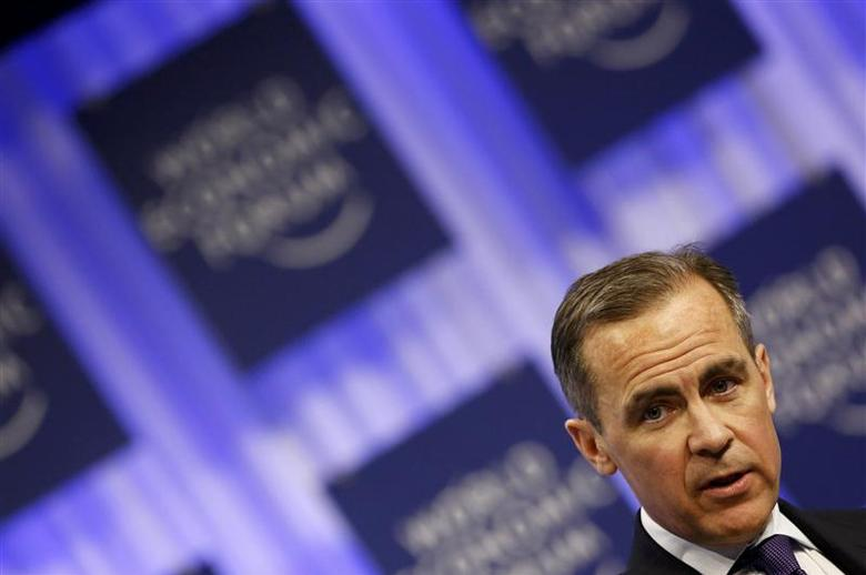 The Governor of Britain's Bank of England, Mark Carney, attends a session at the World Economic Forum (WEF) in Davos January 25, 2014. REUTERS/Ruben Sprich