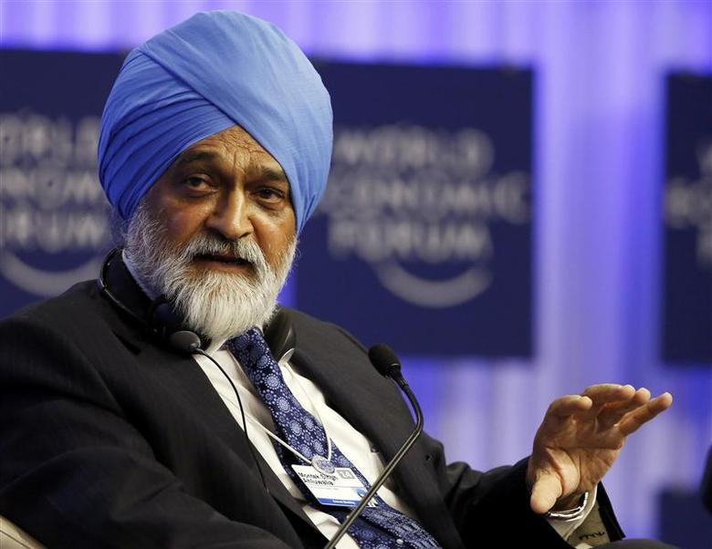 Deputy Chairman of India's Planning Commission Montek Singh Ahluwalia speaks during a session at the World Economic Forum (WEF) in Davos January 25, 2014. REUTERS/Ruben Sprich