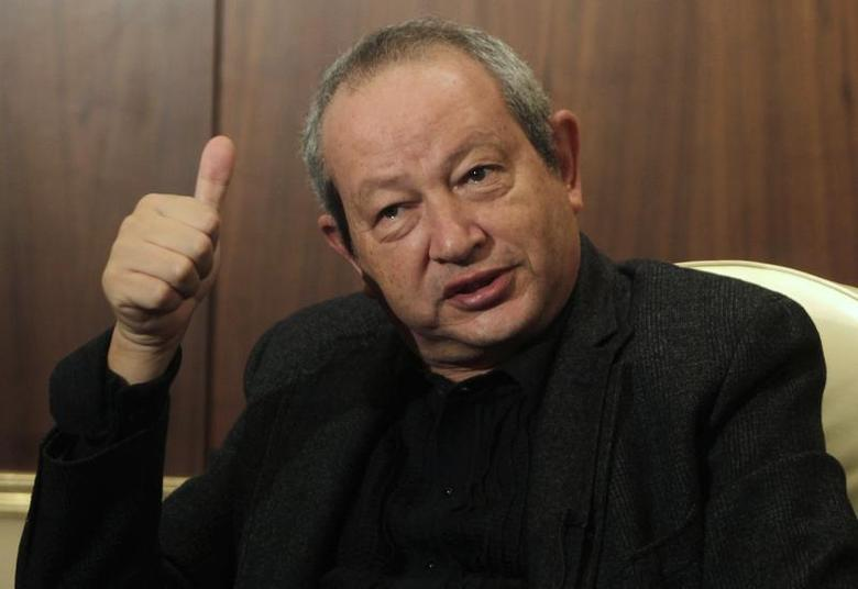 Egyptian tycoon Naguib Sawiris speaks during an interview with Reuters at his office in Cairo November 14, 2013. REUTERS/Mohamed Abd El-Ghany