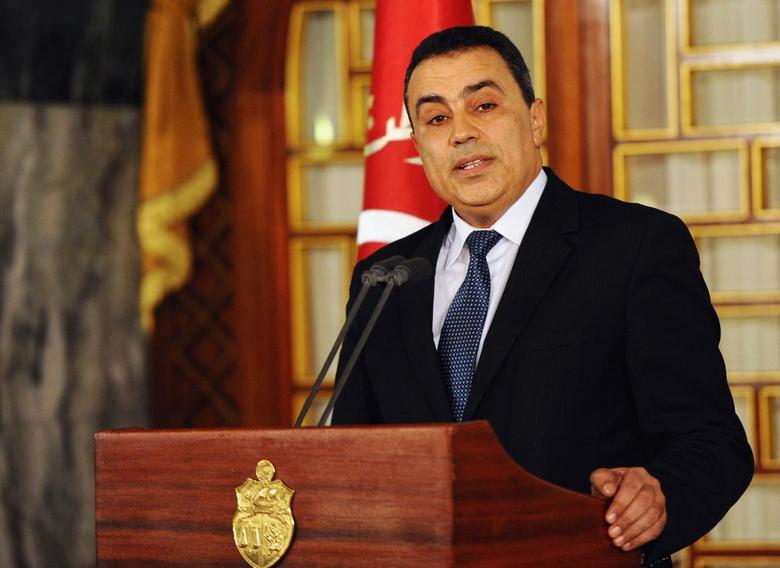 Tunisia's premier-designate Mehdi Jomaa addresses the media during a news conference following a meeting with the Tunisian President at the Carthage Palace in Tunis January 10, 2014. REUTERS/Fethi Belaid/Pool