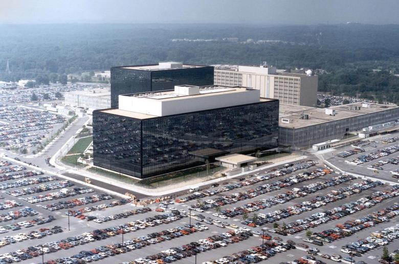 An undated aerial handout photo shows the National Security Agency (NSA) headquarters building in Fort Meade, Maryland. REUTERS/NSA
