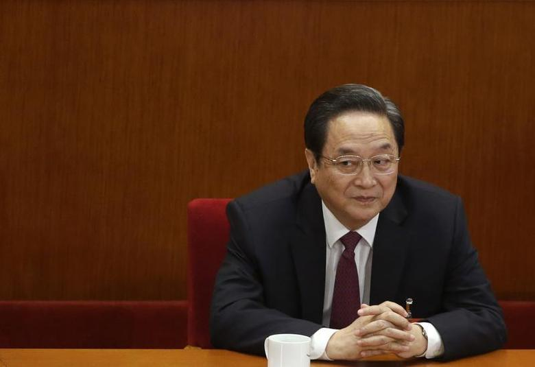 Yu Zhengsheng, newly elected chairman of the Chinese People's Political Consultative Conference (CPPCC), pauses during a plenary meeting of the 12th CPPCC at the Great Hall of the People, in Beijing March 11, 2013. REUTERS/Jason Lee