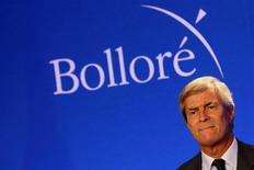 L'homme d'affaires Vincent Bolloré a été sanctionné par le gendarme de la Bourse italienne (Consob) pour manipulation de cours, une décision que le dirigeant du groupe Bolloré conteste. /Photo d'archives/REUTERS/Philippe Wojazer