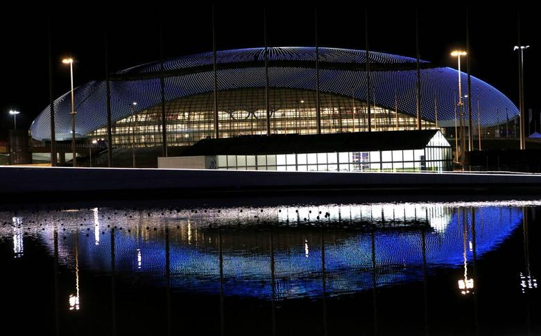 A general view of the Bolshoy Ice Dome in the Adler district of Sochi, January 26, 2014. REUTERS/Alexander Demianchuk