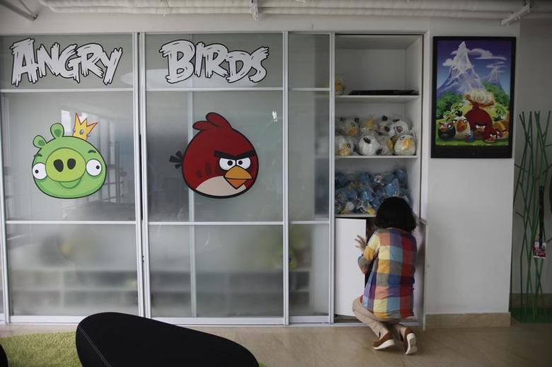 An employee works inside an office of Rovio, the company which created the video game Angry Birds, in Shanghai June 20, 2012. REUTERS/Aly Song