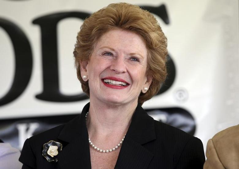 Michigan Democratic Senator Debbie Stabenow attends the ground breaking ceremony of a new 20,000-square-foot Whole Foods Market scheduled to open next year in mid-town Detroit, Michigan May 14, 2012. REUTERS/Rebecca Cook