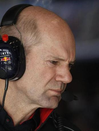 Red Bull Formula One technical chief Adrian Newey looks on during the second practice session of the Australian F1 Grand Prix at the Albert Park circuit in Melbourne March 15, 2013. REUTERS/Brandon Malone