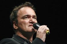 O diretor norte-americano Quentin Tarantino fala após ser premiado em cerimônia em Lyon, França. 18/10/2013 REUTERS/Robert Pratta