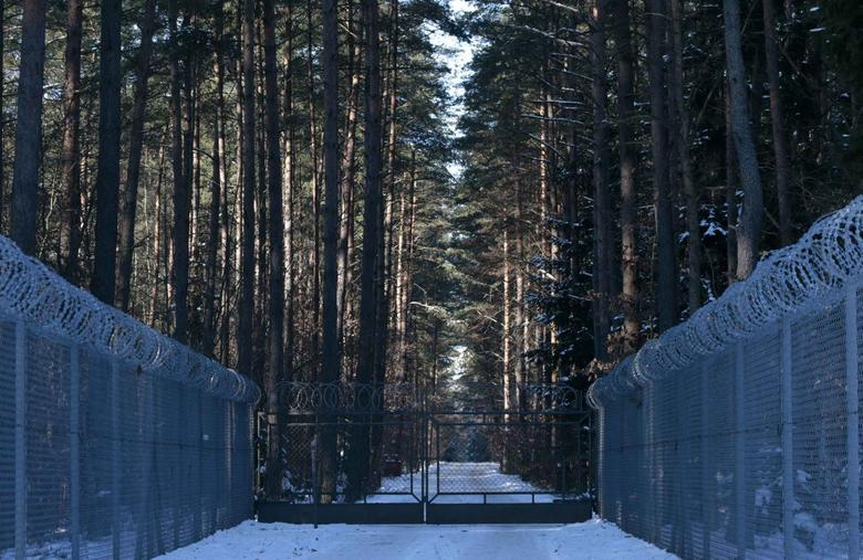 Barbed wire fence surrounding a military area is pictured in the forest near Stare Kiejkuty village, close to Szczytno in northeastern Poland January 24, 2014. REUTERS/Kacper Pempel