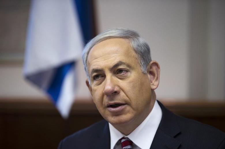 Israel's Prime Minister Benjamin Netanyahu attends the weekly cabinet meeting in Jerusalem January 26, 2014. REUTERS/Ronen Zvulun