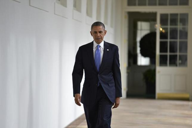 U s president barack obama walks the colonnade from the - When is obama going to be out of office ...