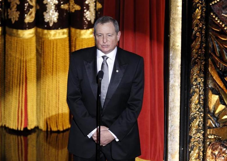 Tom Sherak, President of The Academy of Motion Picture Arts & Sciences, speaks to the audience at the 84th Academy Awards in Hollywood, California, February 26, 2012. REUTERS/Gary Hershorn