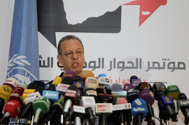 United Nations' Yemen envoy Jamal Benomar addresses a news conference on a proposal to turn the country into a federation of semi-autonomous regions, in Sanaa December 24, 2013. REUTERS/Khaled Abdullah