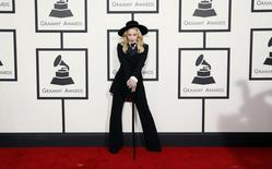 Madonna arrives at the 56th annual Grammy Awards in Los Angeles, California January 26, 2014. REUTERS/Danny Moloshok