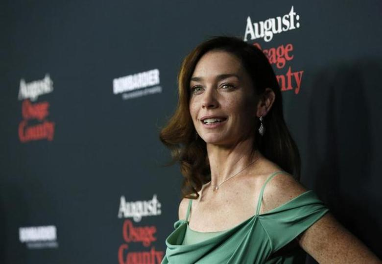 Cast member Julianne Nicholson poses at the premiere of ''August: Osage County'' in Los Angeles, California December 16, 2013. The movie opens in the U.S. on December 25. REUTERS/Mario Anzuoni/Files