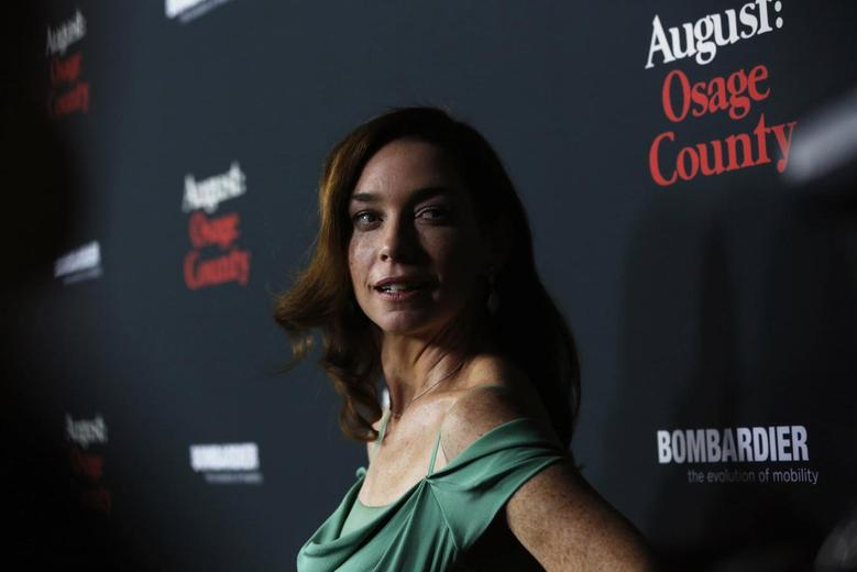 Cast member Julianne Nicholson poses at the premiere of ''August: Osage County'' in Los Angeles, California December 16, 2013. REUTERS/Mario Anzuoni