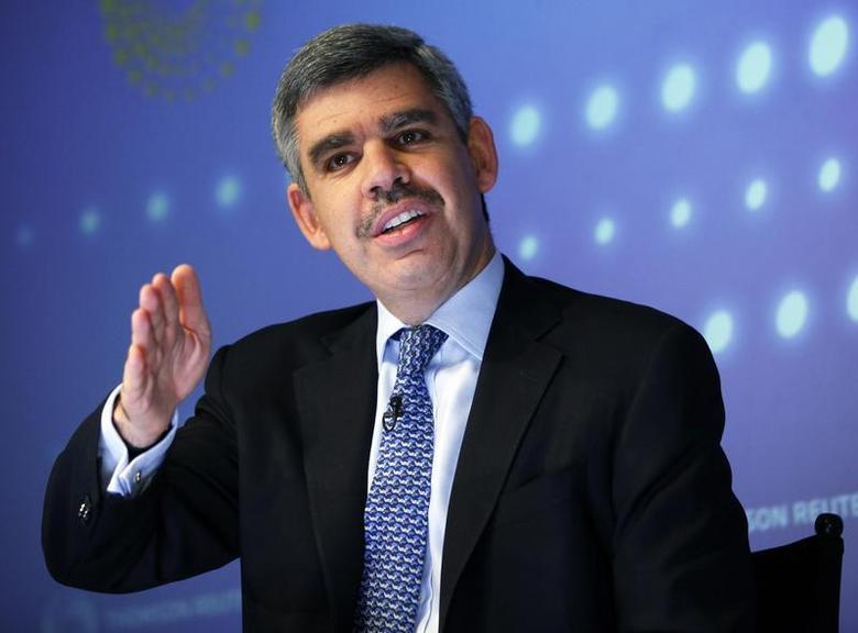 PIMCO's Chief Executive Officer and Co-Chief Investment Officer Mohamed El-Erian speaks during an interview at Thomson Reuters in New York March 31, 2011. REUTERS/Shannon Stapleton