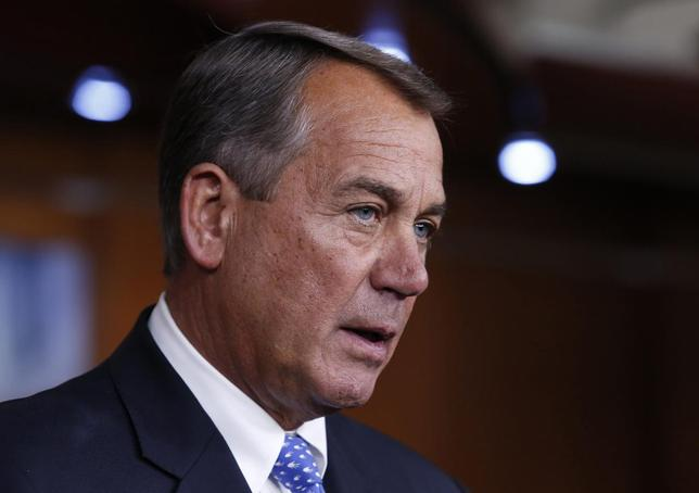 U.S. House Speaker John Boehner (R-OH) speaks at his news conference on Capitol Hill in Washington January 16, 2014. REUTERS/Yuri Gripas