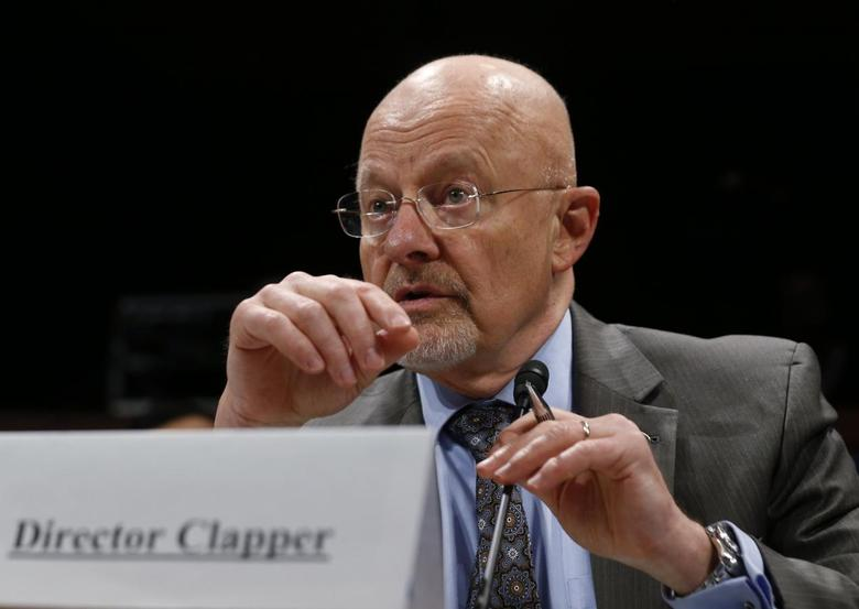 U.S. Director of National Intelligence James Clapper is pictured at a House Intelligence Committee hearing on Capitol Hill in Washington, October 29, 2013. REUTERS/Jason Reed