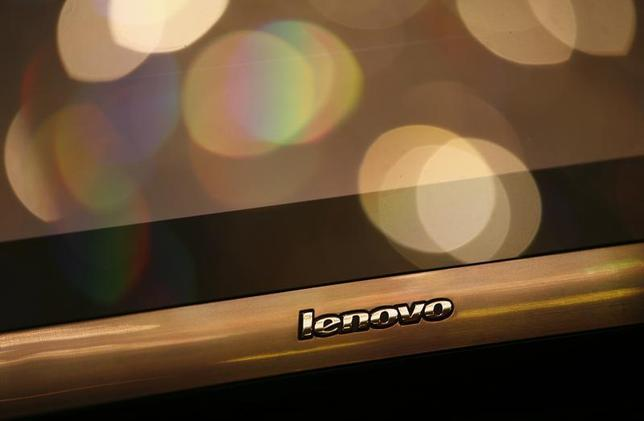A Lenovo monitor is on display during a news conference in Hong Kong May 21, 2009. REUTERS/Bobby Yip