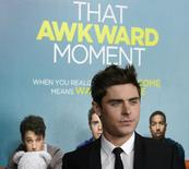"Cast member Zac Efron attends the premiere of the film ""That Awkward Moment"" in Los Angeles January 27, 2014. REUTERS/Phil McCarten"