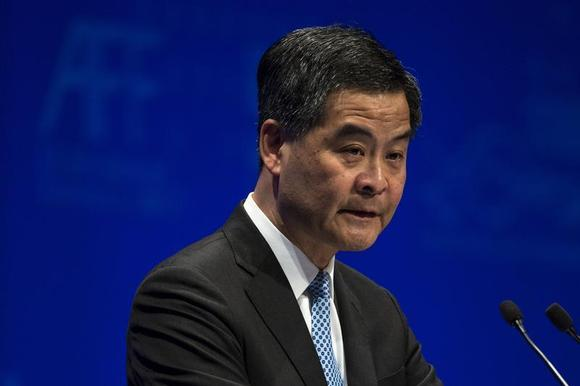 Hong Kong's Chief Executive Leung Chun-ying attends the Asian Financial Forum in Hong Kong January 13, 2014. REUTERS/Tyrone Siu