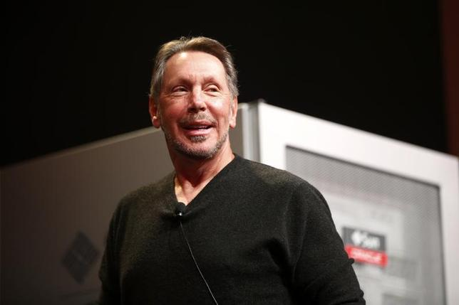 Co-founder and Chief Executive of Oracle Corporation, Larry Ellison introduces the company's latest SPARC servers at Oracle Conference Center in Redwood Shores, California March 26, 2013. REUTERS/Stephen Lam/Files