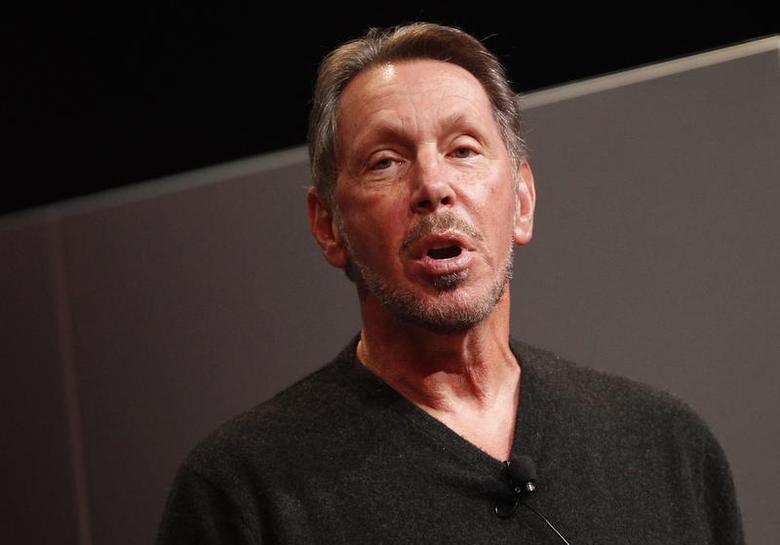 Oracle Corporation CEO Larry Ellison introduces the company's latest SPARC servers in Redwood Shores, California, March 26, 2013. REUTERS/Stephen Lam