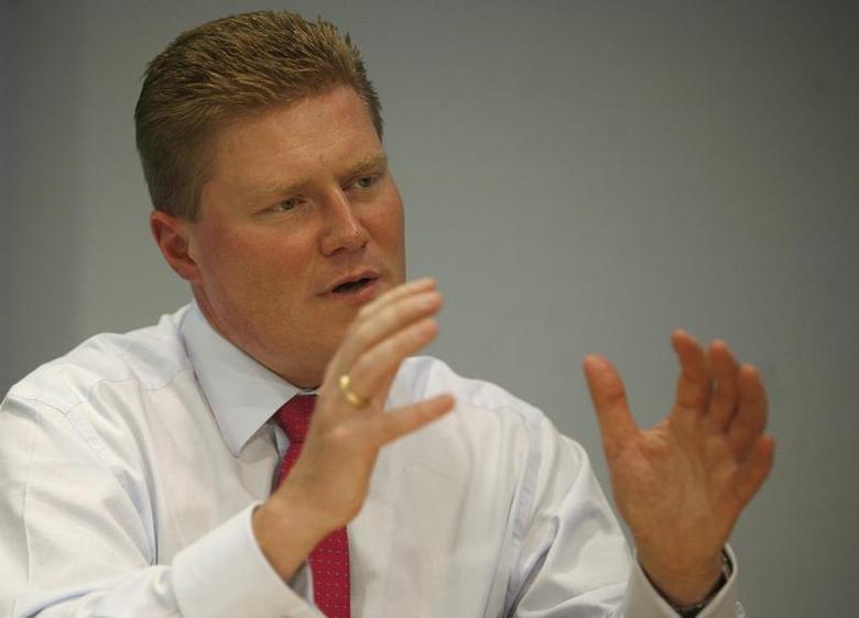 Jesper Brandgaard, Chief Financial Officer of Denmark's Novo Nordisk, speaks at the Reuters Health Summit in New York, November 15, 2007. REUTERS/Brendan McDermid