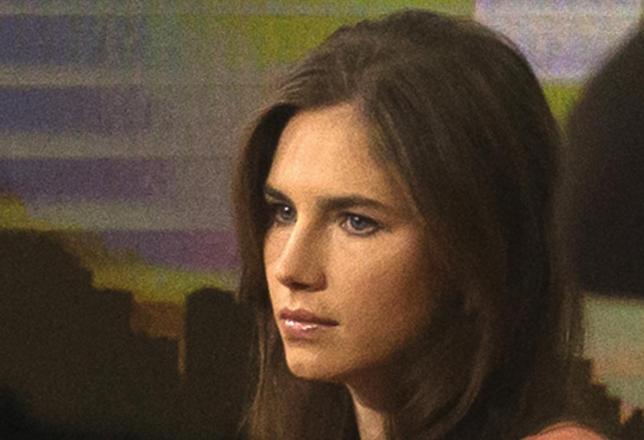 Amanda Knox looks on before speaking on NBC News' ''Today'' show in New York September 20, 2013. REUTERS/Brendan McDermid