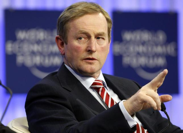 Ireland's Prime Minister Enda Kenny gestures during a session at the annual meeting of the World Economic Forum (WEF) in Davos January 23, 2014. REUTERS/Ruben Sprich