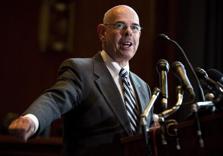 Representative Henry Waxman (D-CA) speak during a news conference calling for no reduction in the Medicare and Medicaid budgets, as part of the year end budget talks on Capitol Hill in Washington December 11, 2012. REUTERS/Joshua Roberts