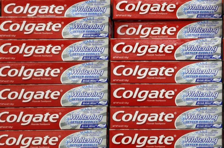 A display of Colgate toothpaste is seen on a store shelf in Westminster, Colorado April 26, 2009 file photo. REUTERS/Rick Wilking